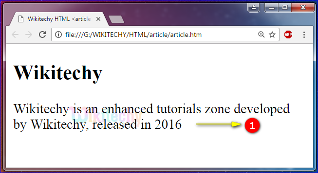 <article> Tag Output