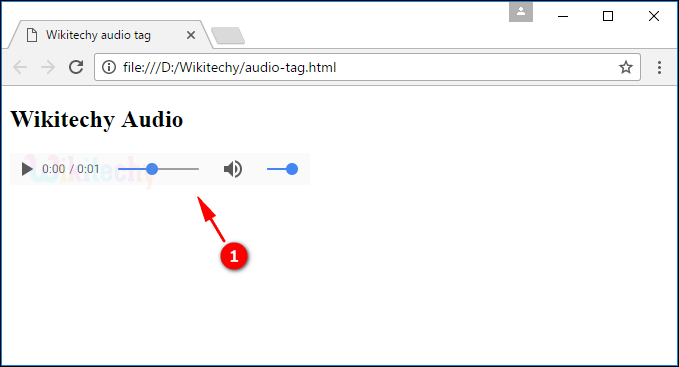 output for audio tag