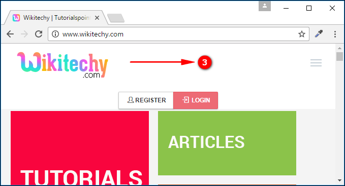 Output for <a> tag navigation to website
