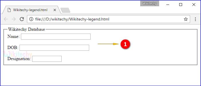 <legend> Tag Output