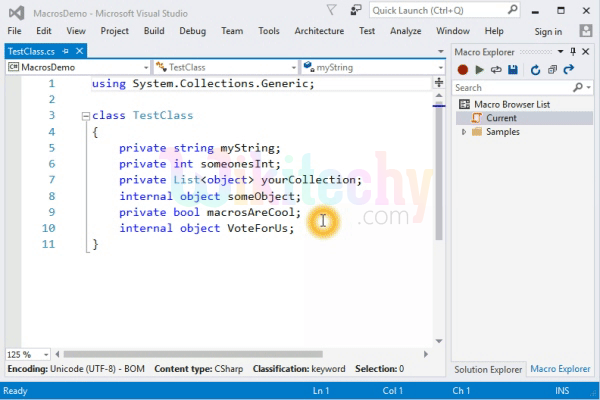 Macros are not available in Visual Studio 11 Developer Preview