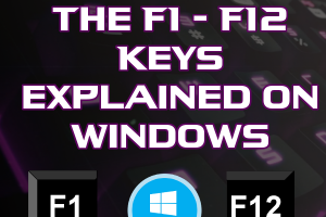 Common Uses of F1-F12 Keys in Windows