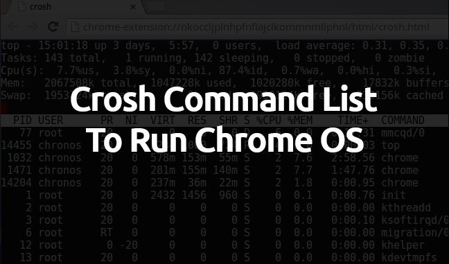 100% Working Code] 27 Handy Chrome OS Commands to Run in Crosh