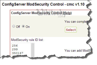 Using mod_security to enhance apache security