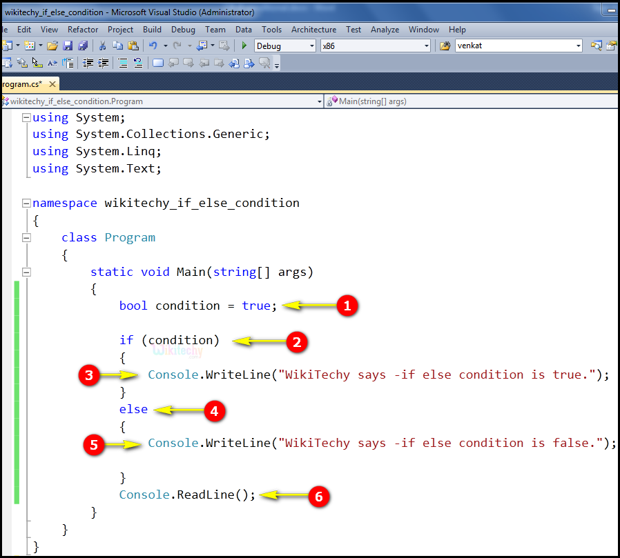 if else conditional code in c#