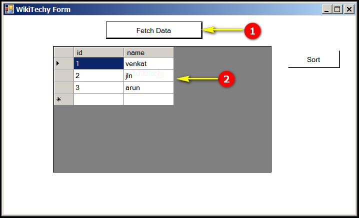 How To Fetch Data In Gridview