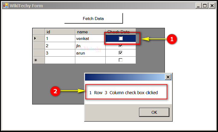 Sample Output checkbox