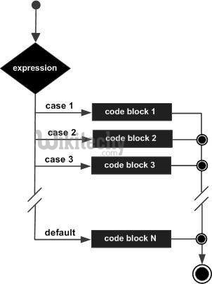 structure of switch statement