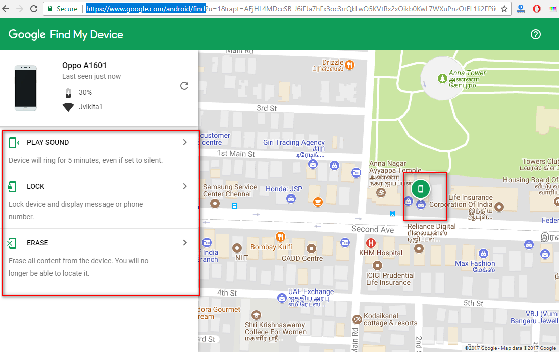 Mobile location in google-maps