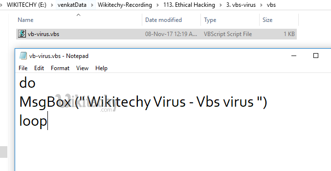 hacking tutorials - vbs virus - By Microsoft Award MVP - hacker