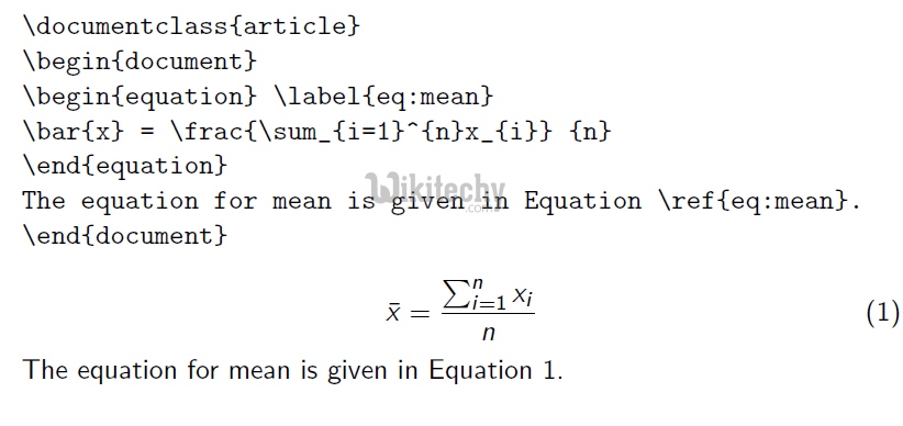 Latex equation - By Microsoft Awarded MVP - Learn in 30sec | wikitechy