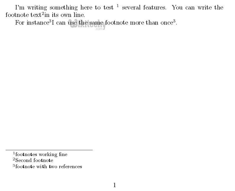 Latex table footnotes join