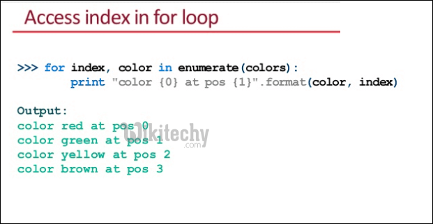 Access Index For Loop
