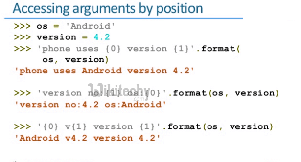 accessing argument by position