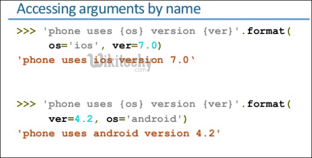 accessing arguments by name