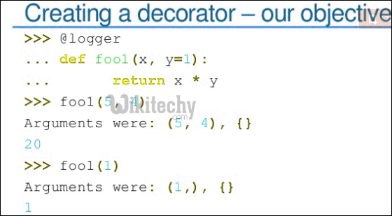 creating decorator