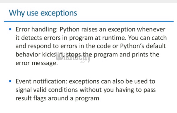 uses of exception