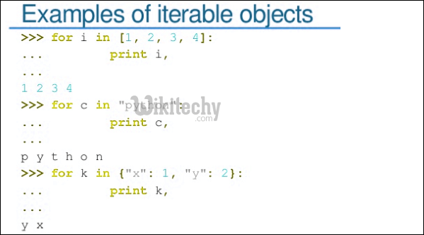iterable objects examples
