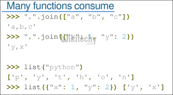 many functions consume