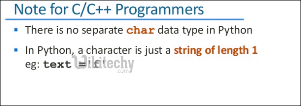 note c c++ programmers