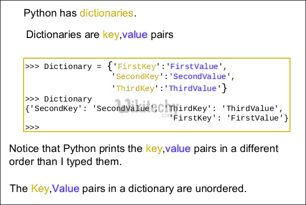 python has dictionaries