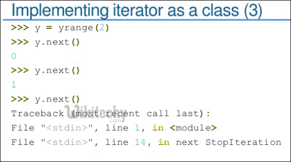 python implementing iterator as a class