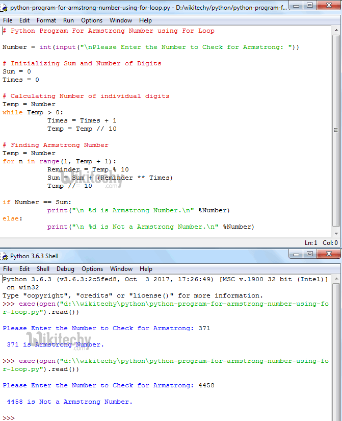 python tutorial - Python Program For Armstrong Number - By