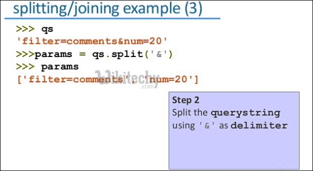 python splitting joining example