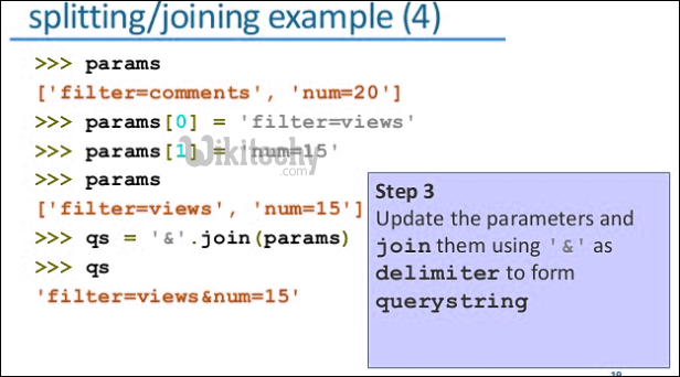 splitting joining python example