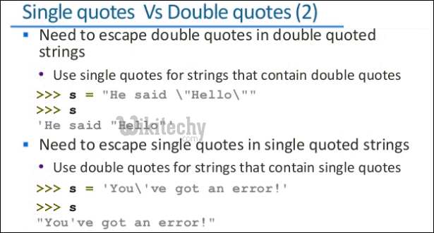 Python - single quotes double quotes 2