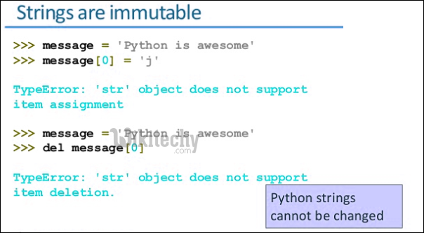 python tutorial - Python String | Interesting facts about