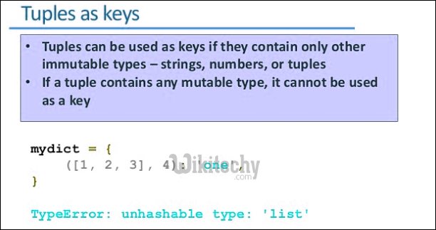 tuples as keys python