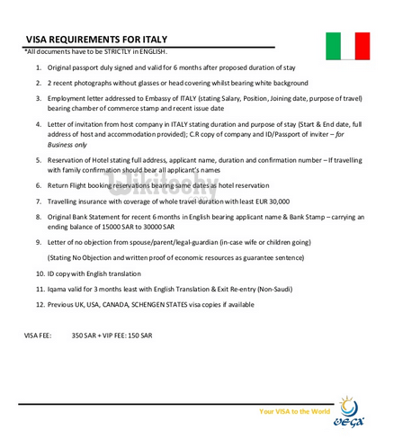 Visa visa italy complete informationtypesfeeseligibilityprocess italy visa requirements spiritdancerdesigns Choice Image