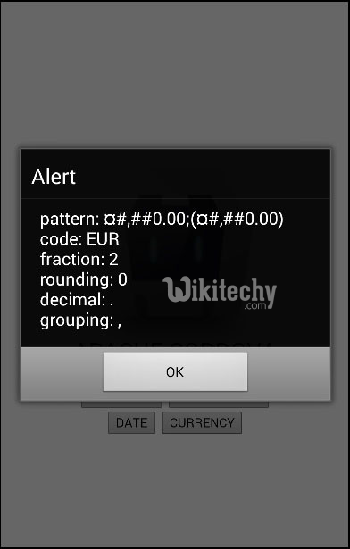 currency  button